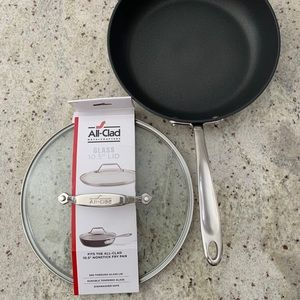 """All-Clad 10.5"""" Hard-Anodized Fry Pan/Lid"""